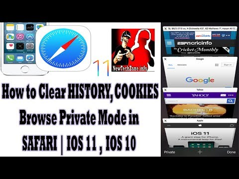 How to Clear Safari browser History, Cookies | Private Mode IOS 11, IOS 10