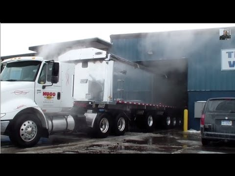 Hydro Chem Systems Truck Wash Cleans & Restores Aluminum Truck Body 800-666-1992