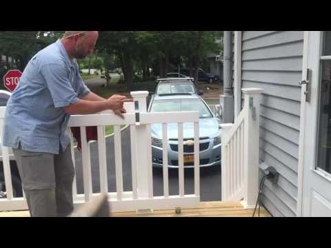Sliding vinyl gate
