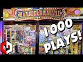 1000 PLAY CHALLENGE Marble Carnival Arcade Pusher Part 1