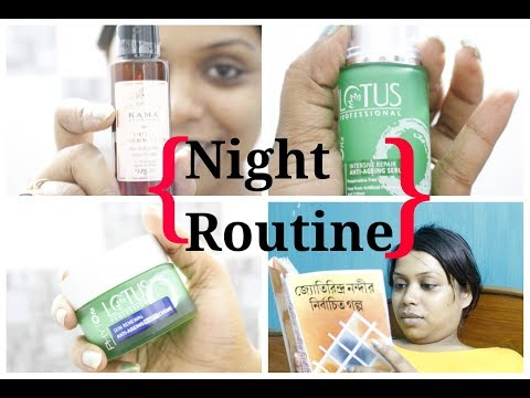 नाइट स्किन केयर रूटीन / My Easy Summer Skin Care Routine / Affordable Products