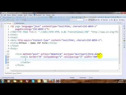 Upload File and Get Value Control in JSP Form