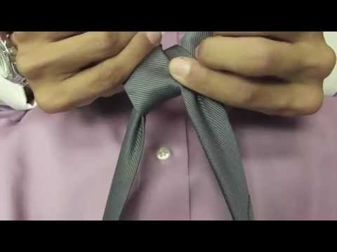 How to tie a Windsor Knot Point of View (POV) Instructional Video