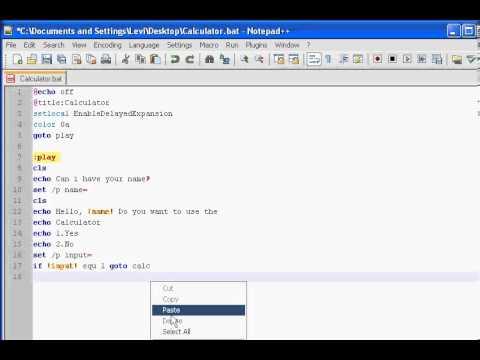How to make a Batch file Calculator!
