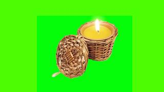 Realistic Candle Burning Green Screen Royalty Free Stock Footage  01
