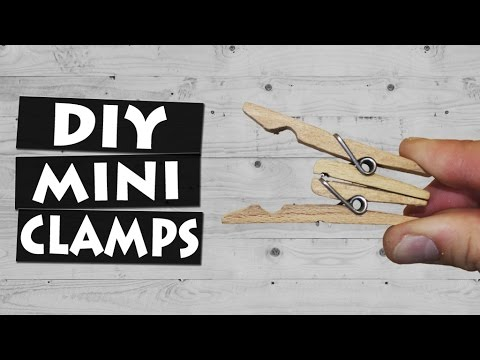 How to Make Mini Clamps with Clothespins | Big Clothespin DIY