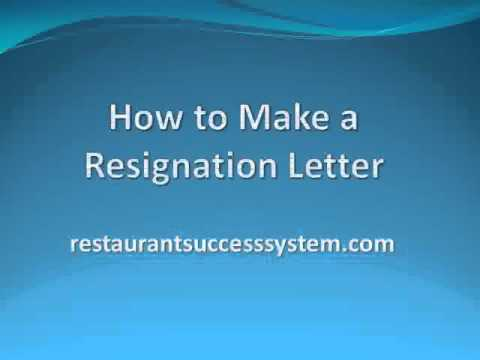 How to Make a Resignation Letter Sample 2016