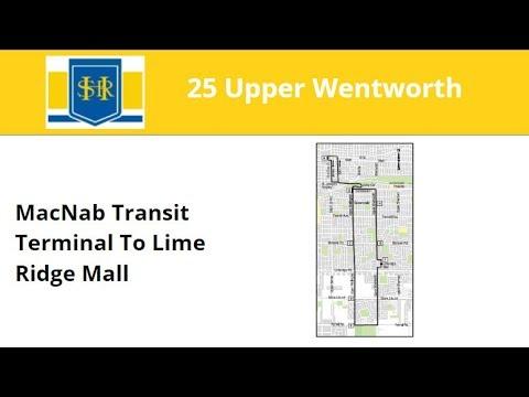 HSR 2015 New Flyer XN60 #1427 On 25 Upper Wentworth (MacNab Terminal To Lime Ridge Mall - Full)
