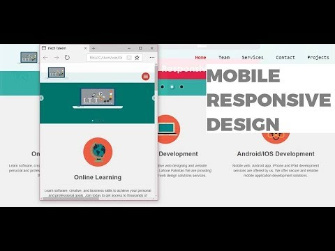Complete Mobile Responsive Website Design HTML5 CSS3 notepad Urdu/hindi