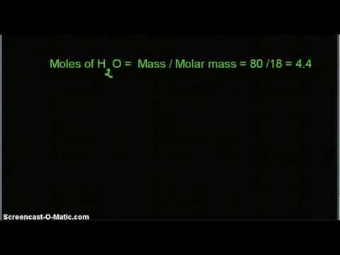Video- Calculate mole fraction of NaOH if it is 20% by weight in its water solution