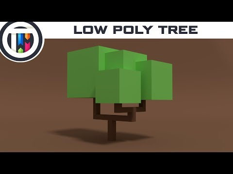 Blender Tutorial - How to model a Low Poly Tree