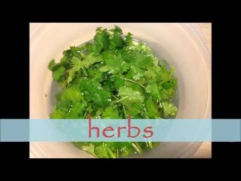 Disinfecting and storing herbs