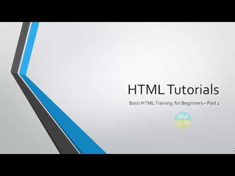 Learn HTML Basic Tutorials for Beginners   Part 1
