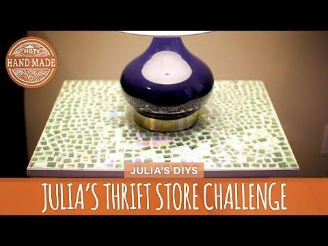 Julia's Thrift Store Challenge: Mosaic Tabletop - HGTV Handmade