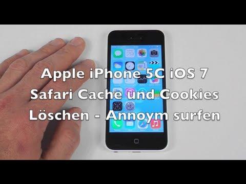 iPhone 5 5C 5S iOS 7 Anleitung: Safari Cache und Cookies löschen