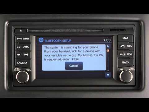 2013 Nissan NV200 Compact Cargo Van - Bluetooth® Hands-free Phone w/o Navi -  Connecting Procedure
