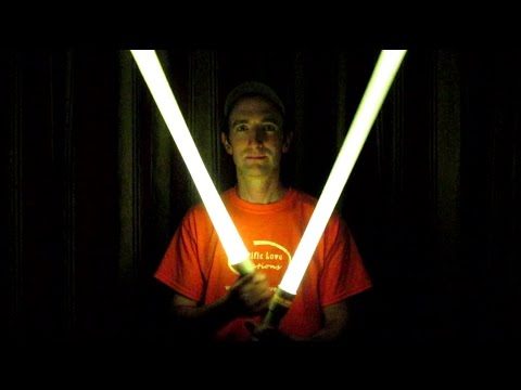 Easy to make Star Wars Lightsaber with PVC pipe