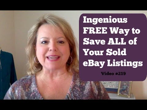 How to Save eBay Sold Listings for More than 90 Days