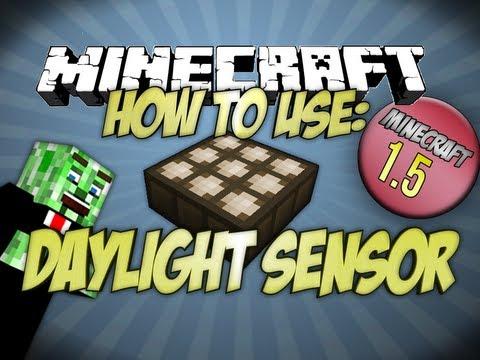 How to use the Daylight Sensor Minecraft