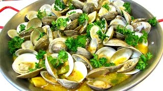 Steamed Clams In Spicy White Wine Butter Broth