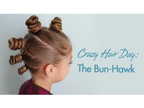 The Bun-Hawk | Crazy Hair Day | Cute Girls Hairstyles