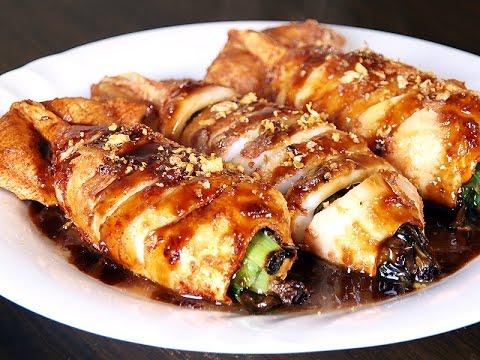 Stuffed Squid Tubes Recipe / Tasty Sea Food