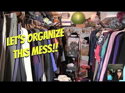 Let's Clean & Organize The Master Bedroom Super Messy Closet   PaulAndShannonsLife