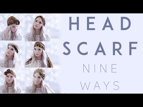 Nine Ways to Wear a Headscarf