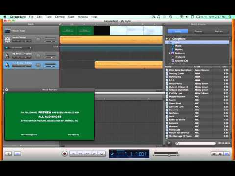 Composing for film with GarageBand - stage 7
