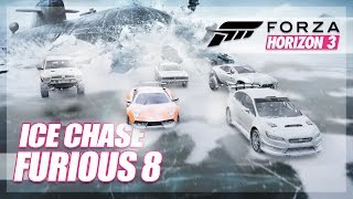 Forza Horizon 3 - The Fate of The Furious Recreation! (Ice Chase)