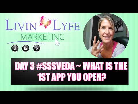 What is the 1st App you Open/Check in the morning? #sssveda