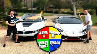 If You Lose, You Have To Spin The Mystery Wheel.. (super Car Destroyed)