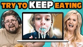 College Kids React To Try To Keep Eating While Watching Challenge