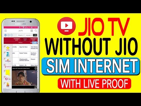 Use Jio Tv Without Using Jio Sim Internet With 100% Working Proof And Live Demo (HINDI/URDU)