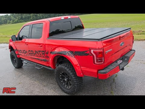 Tri-Fold Tonneau Hard Bed Cover by Rough Country