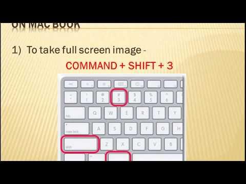 How to Take Screenshot on a Mac-Book and Window 7