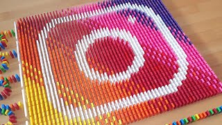 Social Media Apps Made From 20,000 DOMINOES | Satisfying Domino Screen Link