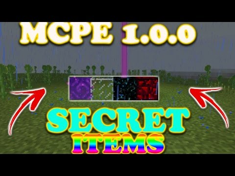 Mcpe 1.0.0 How To Get Unobtainable Items//Glowing obsidian,invisible bedrock,etc//Face Cam!!!