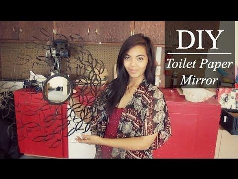 DIY Toilet Paper Mirror