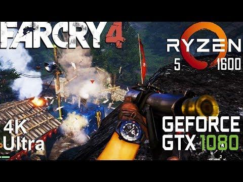 Far Cry 4 4K Test On 4K Test Gigabyte GTX 1080 + Ryzen 5 1600, Ultra Settings