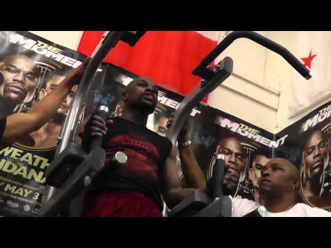 floyd mayweather pullups and dips in top shape EsNews Boxing