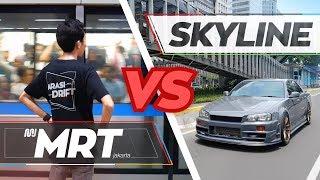 Lebih cepat mana ⁉️     MRT Jakarta VS Nissan Skyline