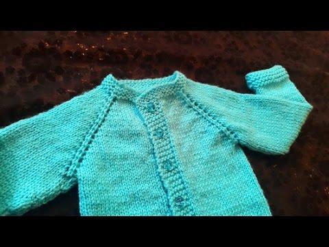 Cardigan Baby Sweater (1 Year Baby) in Urdu/Hindi by Azra Salim