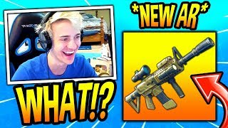 NINJA REACTS TO *NEW* THERMAL SCOPED ASSAULT RIFLE! *LEGENDARY* Fortnite SAVAGE & FUNNY Moments