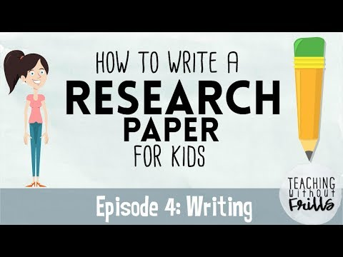 How to Write a Research Paper for Kids | Episode 4 | Writing a Draft