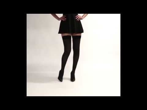 Compression Socks - Opaque Thigh High Stockings Firm Support 20-30mmHg