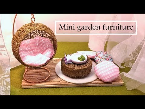 Miniature Garden Furniture- Swing chair- 3D Pen