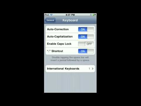 How to Disable Auto-Correct on iPhone/iPod Touch