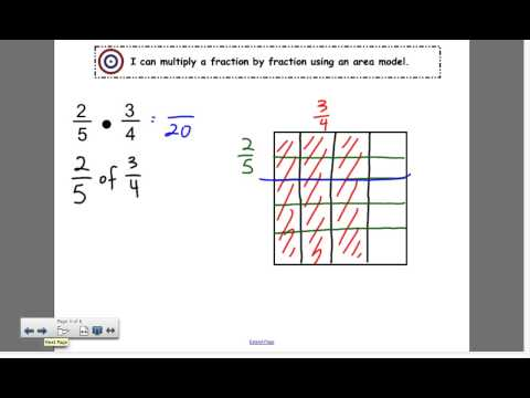 Multiply a fraction by fraction using an area model #2
