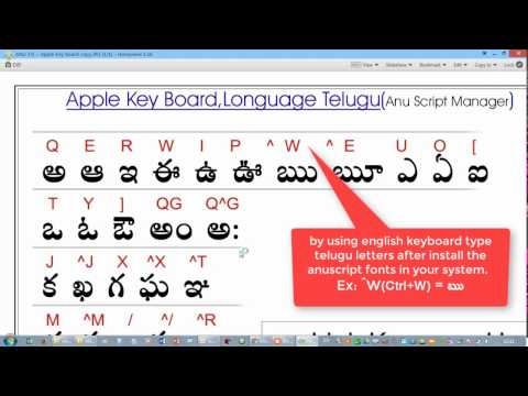 Anu Script Telugu Typing Software free download   | Mahesh iT Online